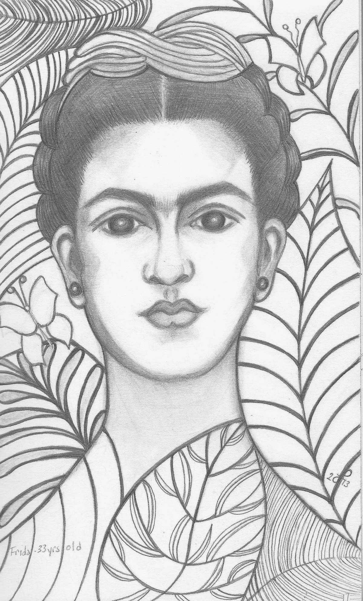 Portraits of Frida Kahlo  and Strong Women Making History