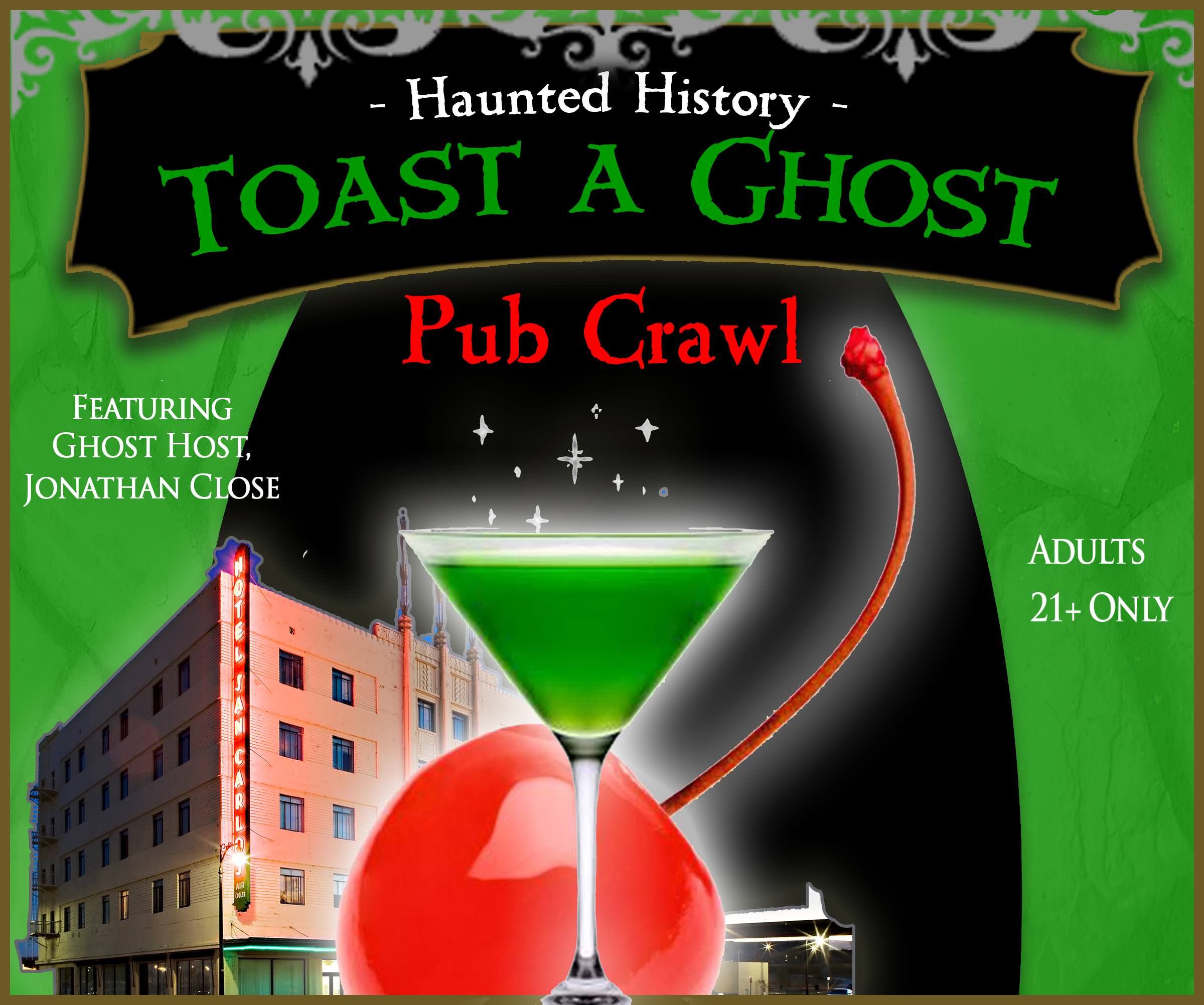 Toast-a-Ghost Pub Crawls