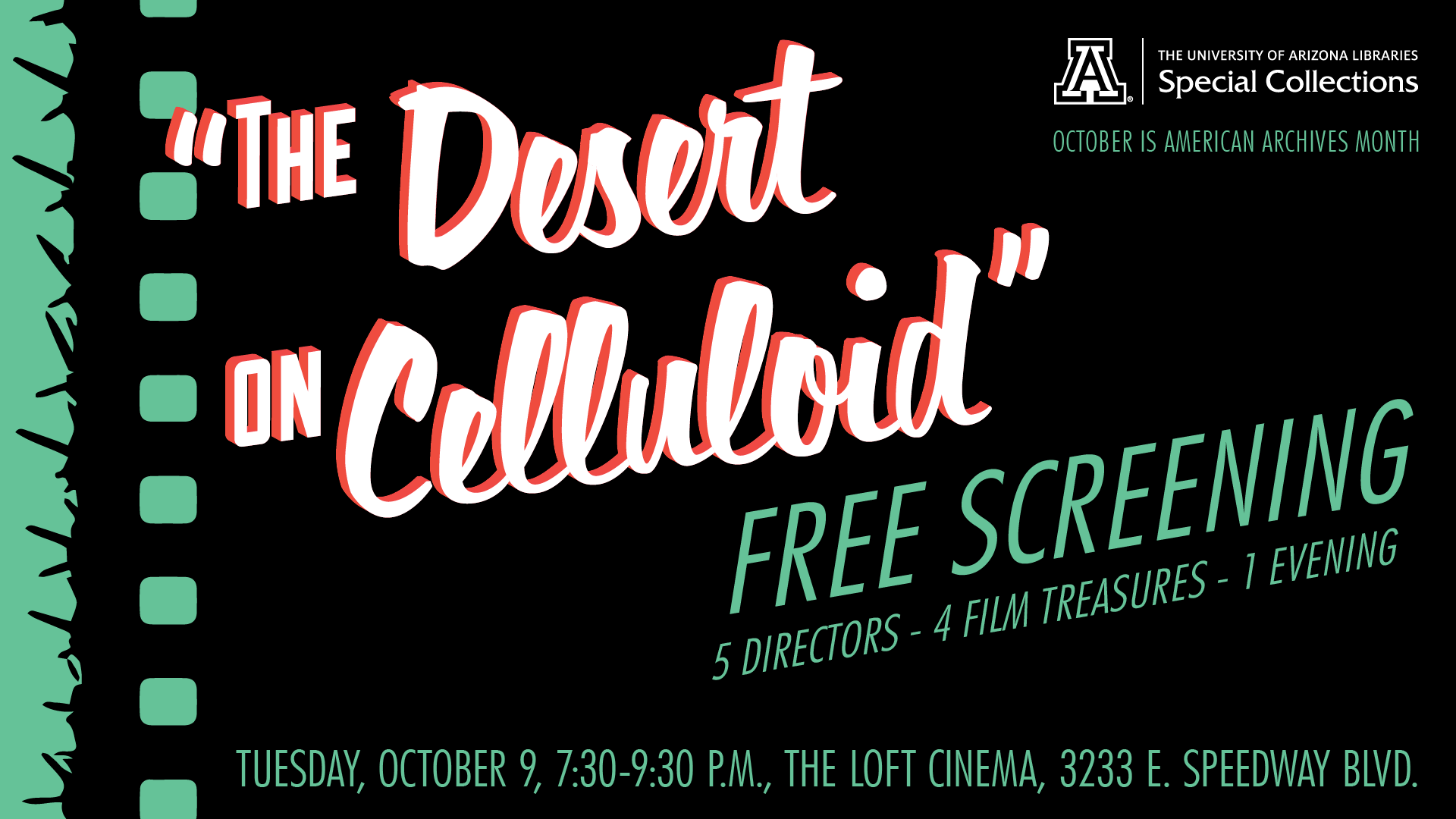The Desert on Celluloid: 5 Directors, 4 Film Treasures, 1 Night