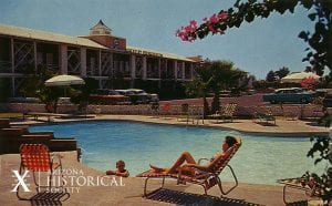 Photo postcard of Hotel Desert Hills, Phoenix, AZ, ca. 1970. AHS Photo #2004.55.987