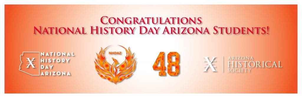 Congrats NHDAZ 2020 Students rectangle graphic
