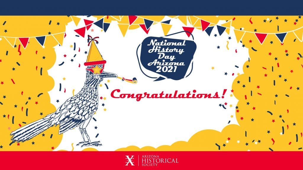 National History Day Roadrunner Congratulations